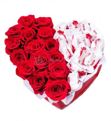 """Цветы в коробке """"Секрет любви"""""""