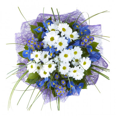 Букет «Романтичная синева»